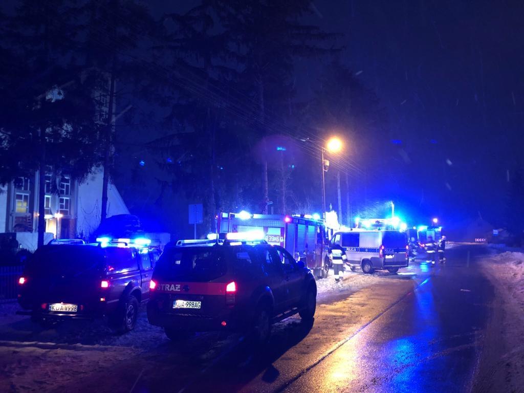 Interwencja strażaków w kościele w Borusowej