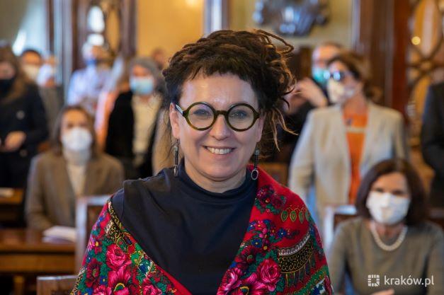 Olga Tokarczuk Honorową  Obywatelką Miasta Krakowa