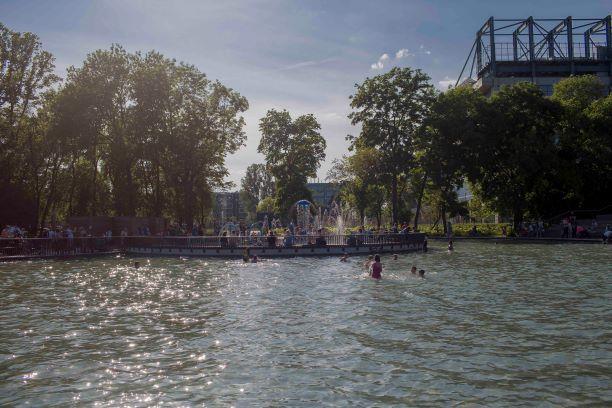 Wodny plac zabaw w parku Jordana