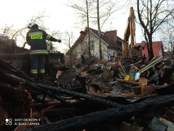 Pożar domu w Olszowicach