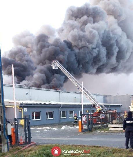 Pożar drukarni w Krakowie