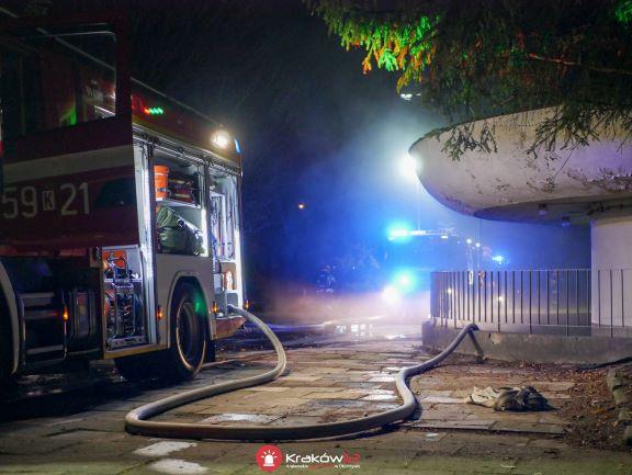 Pożar w szpitalu Rydygiera w Krakowie