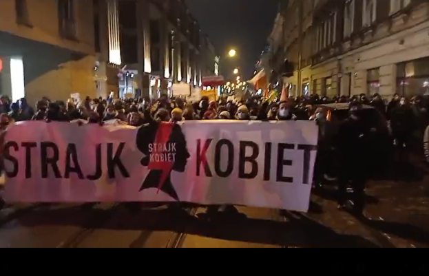 Protest w Krakowie po opublikowaniu wyroku TK
