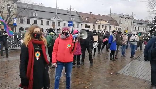 Sobotni protest na ulicach Krakowa