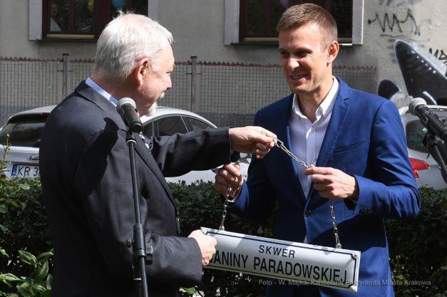 Uroczystość nadania imienia Janiny Paradowskiej skwerowi przy ul. Łobzowskiej