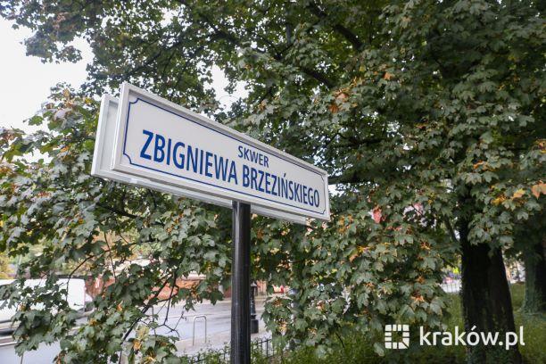 Uroczystość nadania imienia Zbigniewa Brzezińskiego skwerowi przy ul. Piłsudskiego