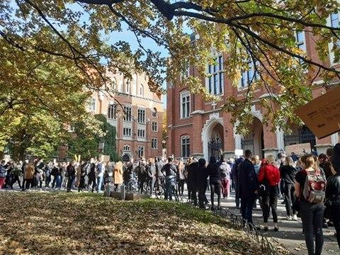 Spacer studentów ulicami Krakowa