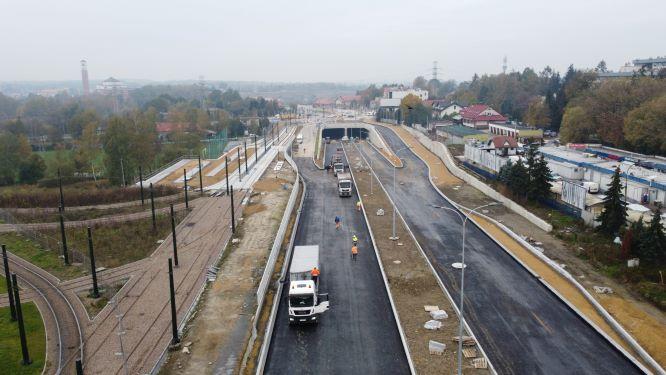 Tak się buduje Trasa Łagiewnicka - październik 2020