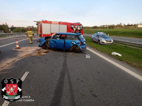 Wypadek na autostradzie A4 Kraków - Katowice