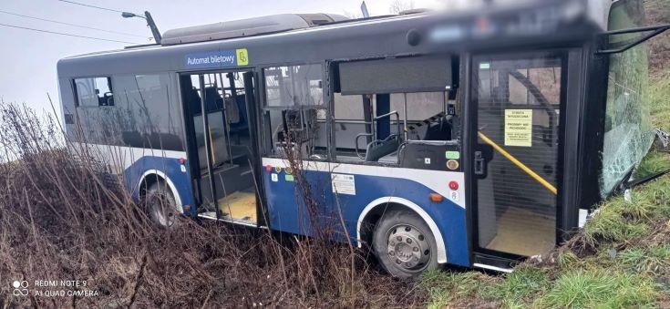 Wypadek autobusu MPK w Skawinie