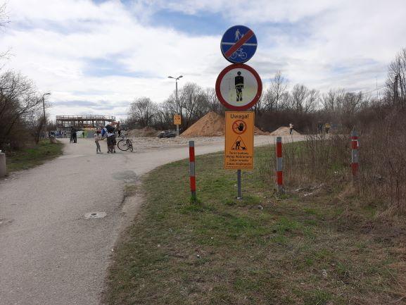 Zakrzówek - plac budowy czy miejsce spacerów i droga dla rowerów?