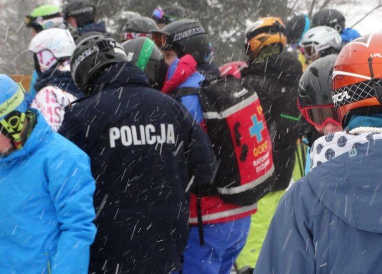 Policyjni narciarze / fot. KWP Kraków