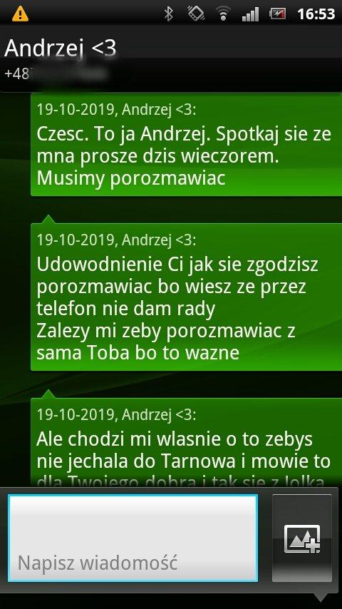 Jolka Rosiek publikuje SMS'y od Andrzeja. ″Zależy mi na Tobie″