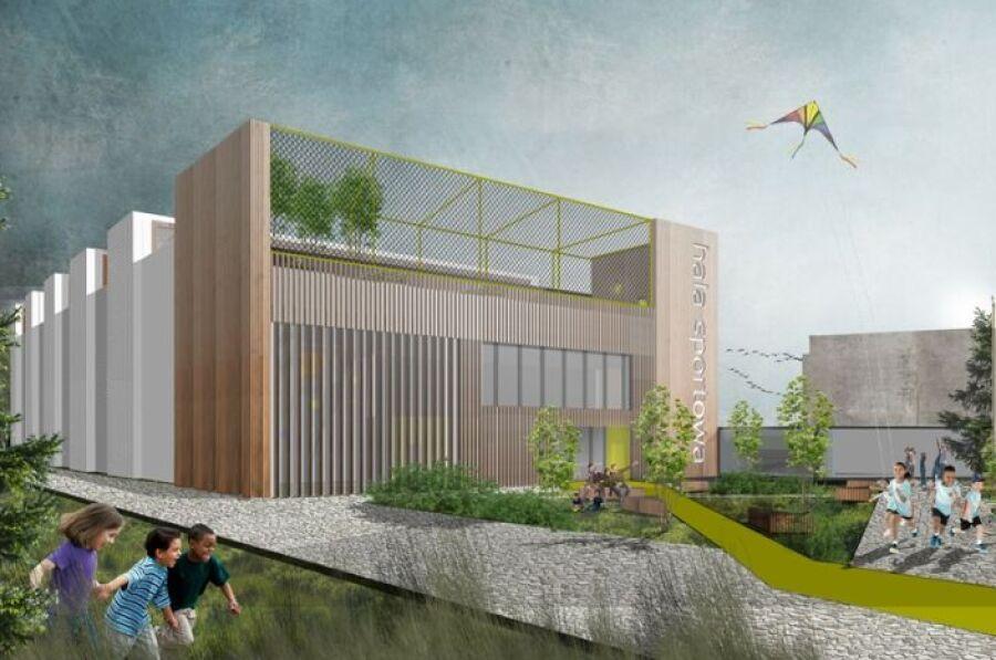 Dzielnica VIII Dębniki. Rusza budowa hali sportowej, której dach projektowali uczniowie