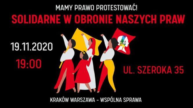 """Tłum na Szerokiej. Protest """"Kraków – Warszawa – nasza wspólna sprawa"""" [video]"""