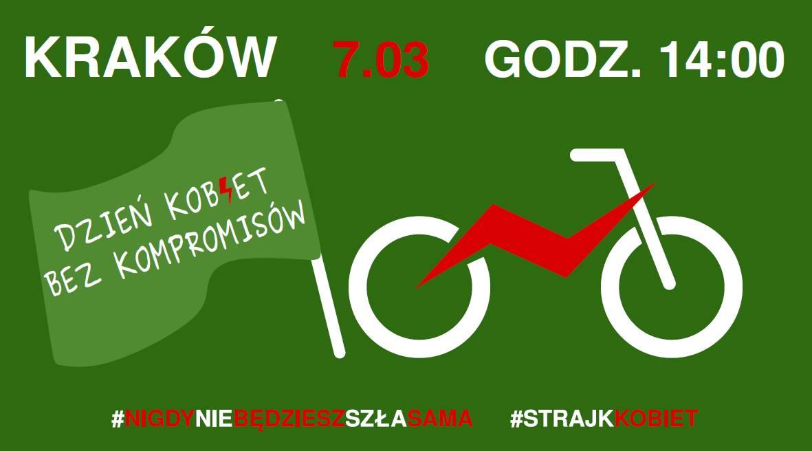 Fot. FB Strajk w ruchu i Ogólnopolski Strajk Kobiet - Kraków