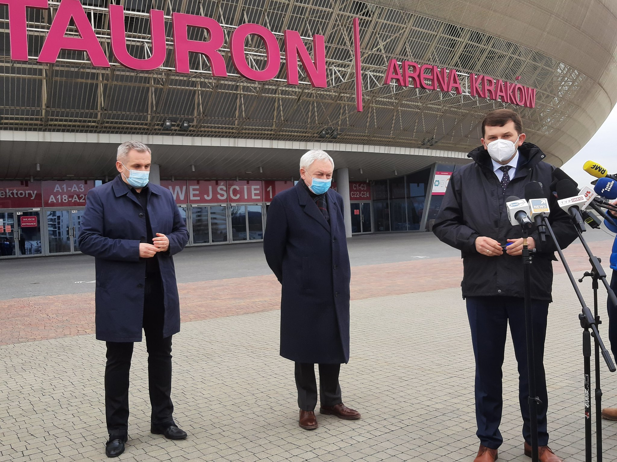 Tam będziemy się masowo szczepić! Potężne Centrum Szczepionkowe powstanie przy Tauron Arenie Kraków